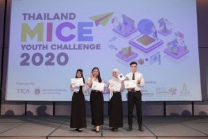 นักศึกษาของหลักสูตรนานาชาติ คว้ารางวัล Popular Vote จากเวที Thailand Mice Youth Challenge 2020